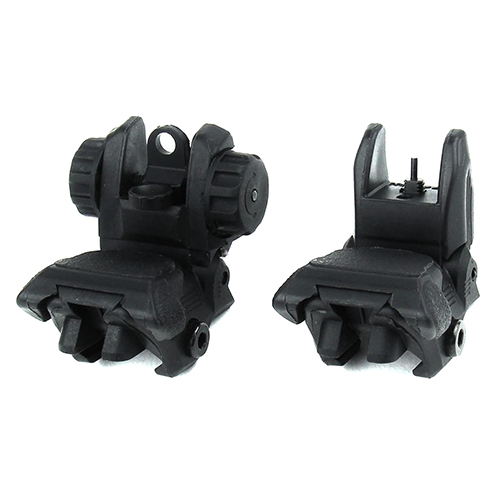 Front And Rear Polymer Tool-Less Flip-Up Aiming Sights