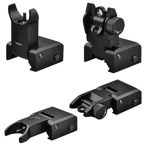 Trinity Set of Front And Rear Flip-Up BUIS Aiming Sight Set