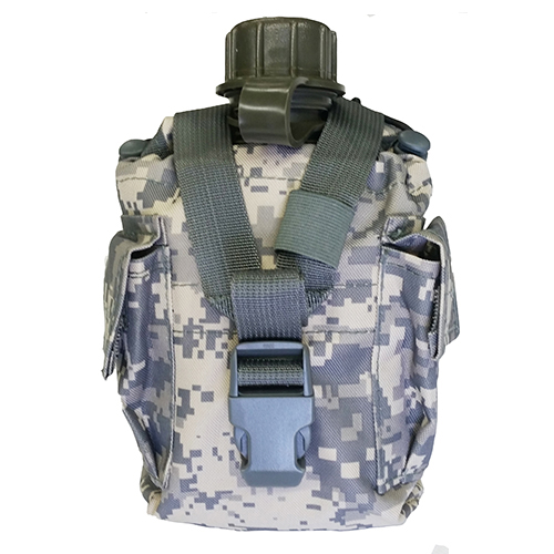 USA MADE Water Canteen + ACU CAMO MOLLE PALS Compatible Cover