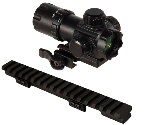 Ruger Combo #10 - UTG Red Green Dot Scope + Mini14 Ranch Mount