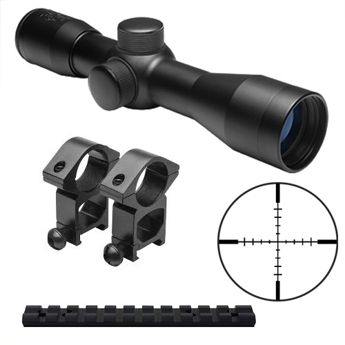 10/22 Combo #23 - NcStar 6x32 Scope + Rings + Weaver Style Mount