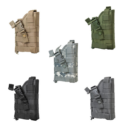 Ambidextrous Tactical MOLLE Pistol Holster - Multiple Colors