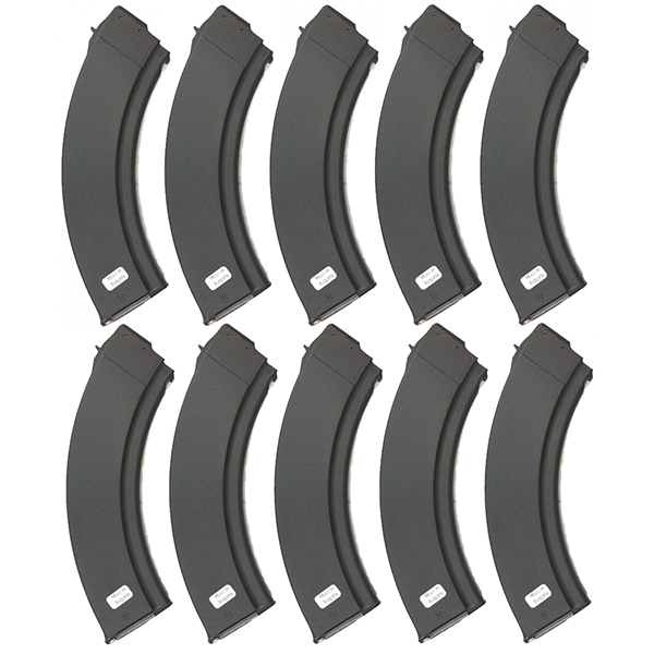 10 Pack - Bulgarian AK47 Synthetic 40rd Steel Lips Magazines
