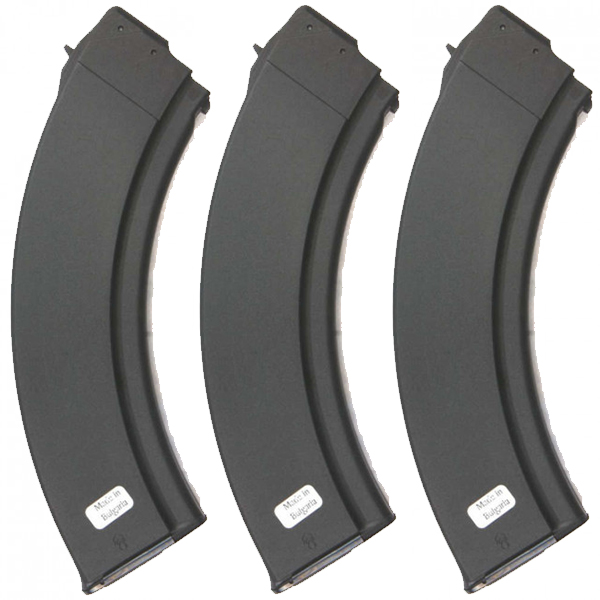 3 Pack - Bulgarian AK47 Synthetic 40rd Steel Lips Magazines