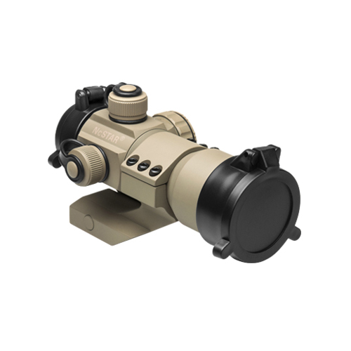 NcStar Tan Color Red Green Blue Dot Scope Sight + Mount