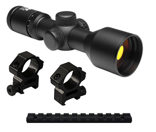 10/22 Combo #18 - illuminated 3-9x42 Scope + Rings + Mount