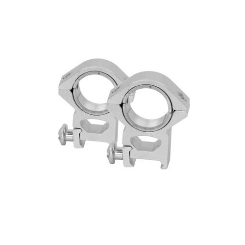 "NcStar Silver Color 1"" 30mm Tall Height Scope Rings"