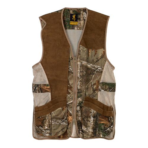 Browning Crossover Vest, Realtree Xtra/Leather Small