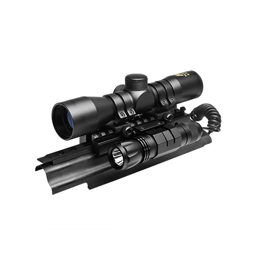 AK Combo #15 - Tactical Mount + 4x30 Rifle Scope + LED Light