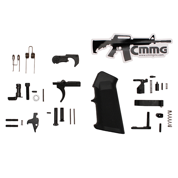 CMMG AR15 Complete Semi-Auto Lower Parts Kit with A2 Style Grip