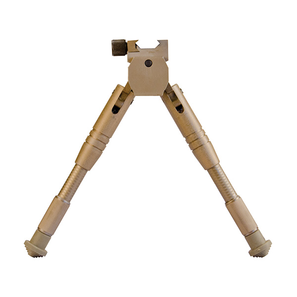 Caldwell Tan Prone Height Adjustable Picatinny Mount Rifle Bipod