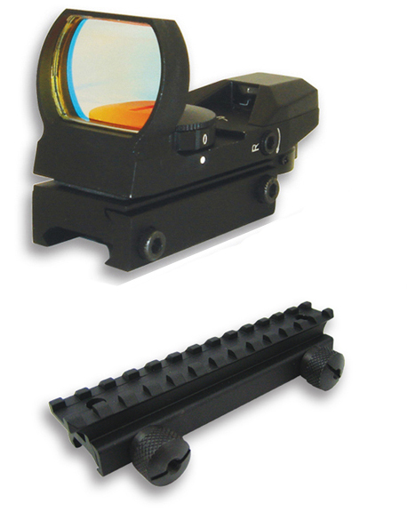 Tactical 4 Reticle Reflex Sight + Mount for Paintball Marker