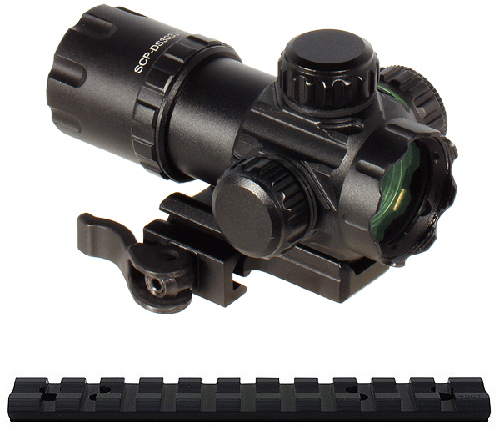 UTG Compact Red Green Dot Co-Witness Scope for Mossberg 500 590