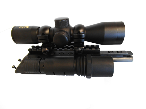 AK Combo #2 - Trirail Mount + 4x30 Rifle Scope + Flashlight Kit - Click Image to Close