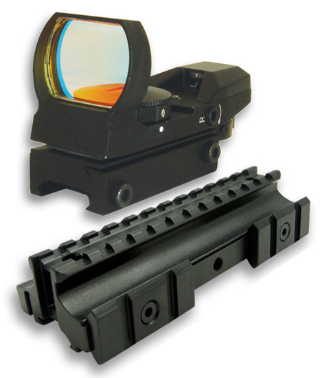AR Combo #2 - Trirail Riser Mount + 4 Reticle Reflex Sight