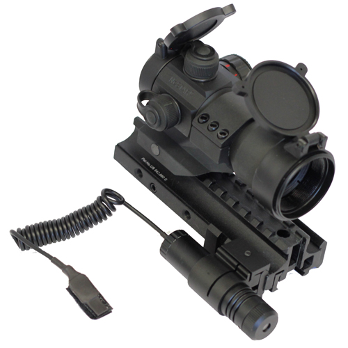 AR Combo #11 - Tactical Dot Sight + TriRail Mount + Green Laser