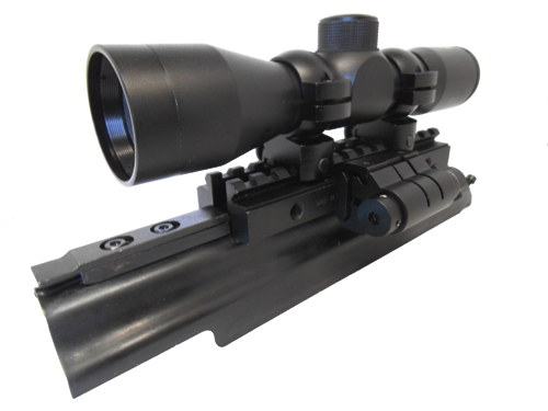 AK Combo #6 - Trirail Mount + 4x30 Rifle Scope + Red Laser