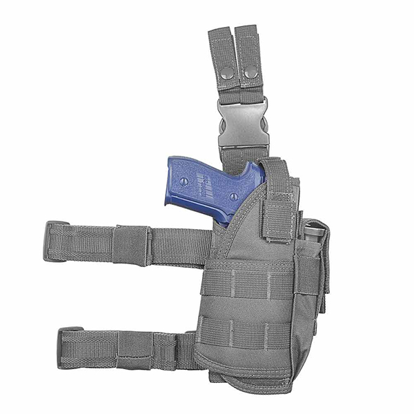 Drop Leg Holster fits Pistol With Compact Light / Laser Attached