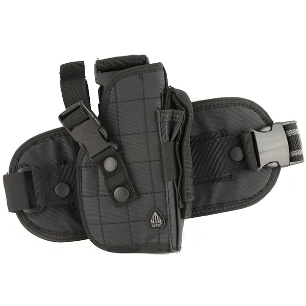 UTG Tactical Drop Leg Right Hand Pistol Holster w/ Mag Pouch