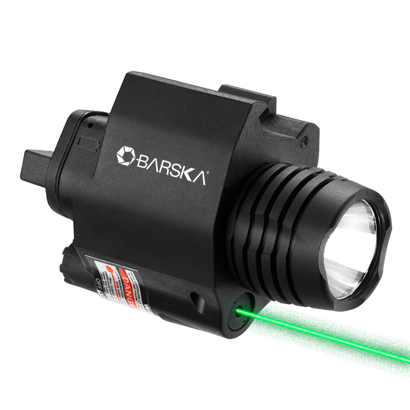 Barska Green Laser with 200 Lumen Flashlight