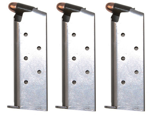 3 Pack Factory SIG SAUER P238 .380 ACP 6rd Stainless Magazines