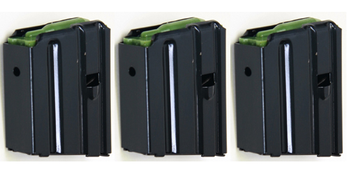 3 Pack Promag 10rd AR15 M4 Black Steel Flush Magazine