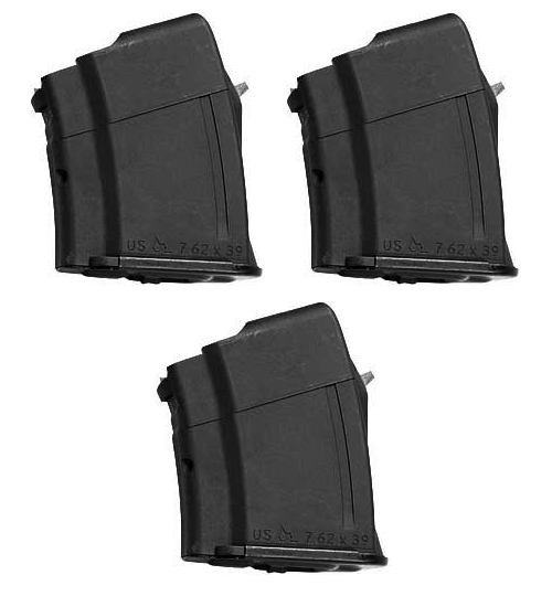 3 Pack - ARSENAL 7.62x39 10rd AK47 MAK90 Magazine