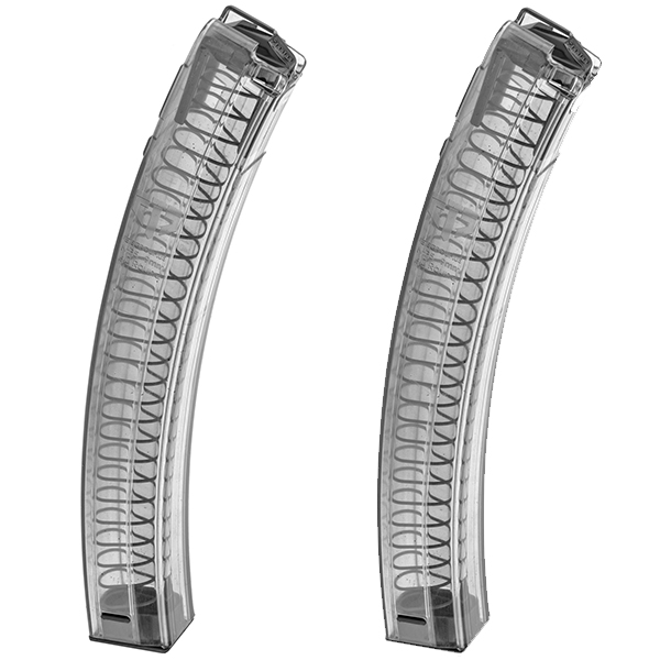 2 Pack - ETS H&K MP5 9mm 30rd Magazines - Smoke Color