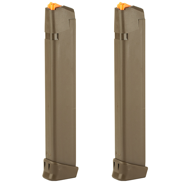 2 Pack - GLOCK 33RD FDE 9mm Magazine for 17 19 19X 26 34 Pistols