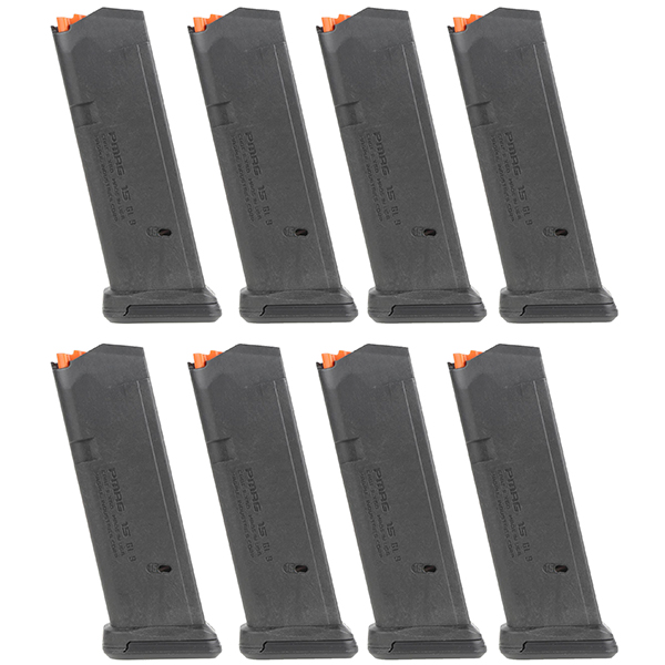 8 Pack MAGPUL PMAG GL9 9mm 15rd Magazines for GLOCK G19 Pistols