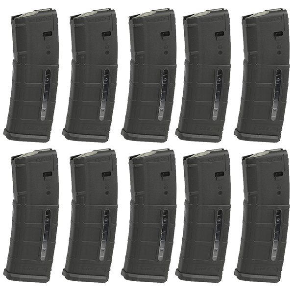 10 Pack - MAGPUL MOE Window PMAG AR15 5.56 30rd Black Magazine