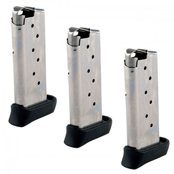 3 Pack SIG SAUER Factory P938 Stainless Steel 9mm 7rd Magazines