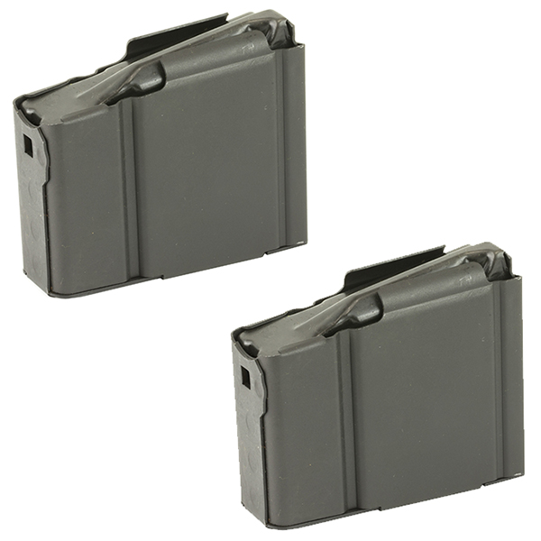 2 Pack - Springfield Armory OEM 5rd Steel M1A M14 Magazines
