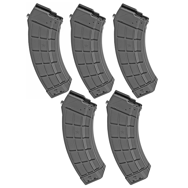 5 Pack - US Palm Polymer 7.62x39 Magazine for AK47 MAK90 Rifle