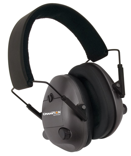 Champion Electronic Hearing Protection Earmuffs - Black