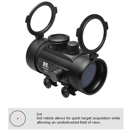 NcStar Tactical 42mm Red Dot Tube Reflex Optic