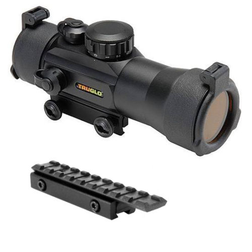 TRUGLO 2x42 Red Dot Rifle Scope + 3/8 Dovetail Adapter Mount
