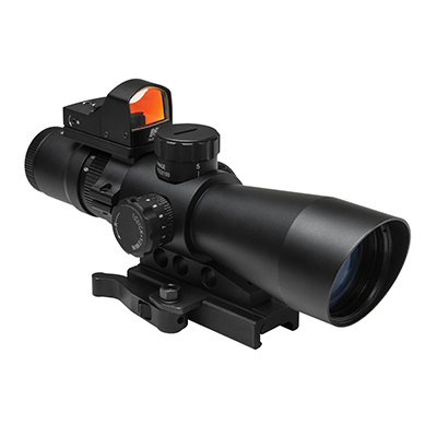 NcStar 3-9x42 Tactical QD Rifle Scope w/ Red Dot Backup Sight