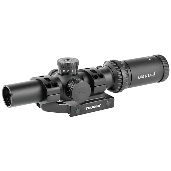TRUGLO OMNIA 1-4X24 IR Tactical Rifle Scope With APTR Mount