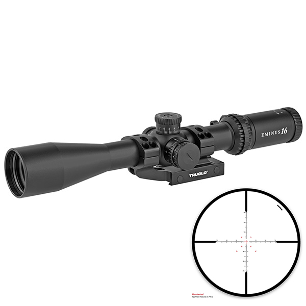 TRUGLO EMINUS 4-16X44 IR TacPlex 30mm Rifle Scope w/ APTUS Mount