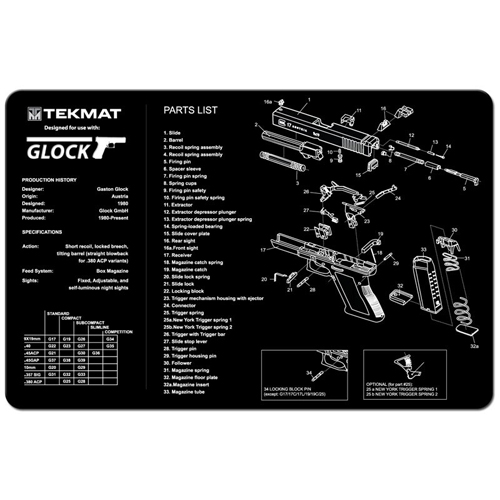 TekMat Gunsmithing Maintenance Mat for Pistols